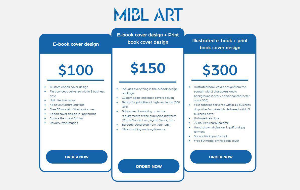 Average Cost Of Book Cover Illustration : Miblart book cover design cost