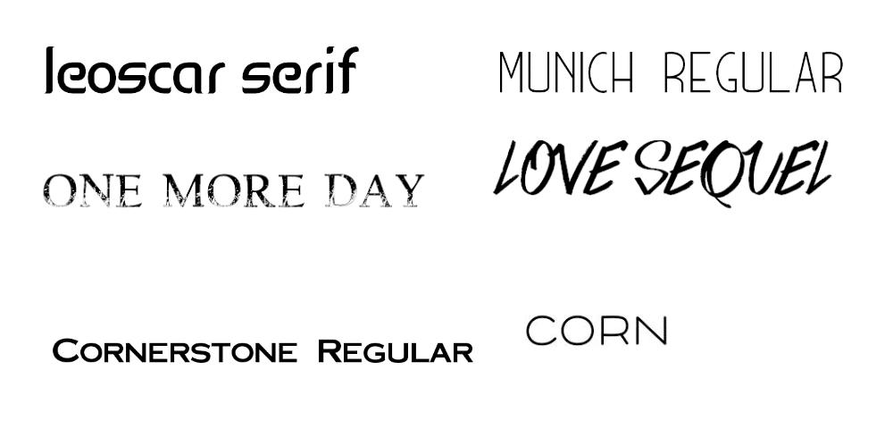 Edgy font