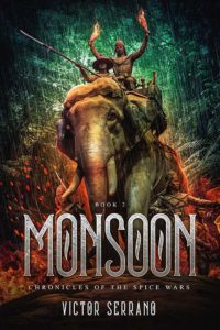 Book cover of Monsoon by V. Serrano