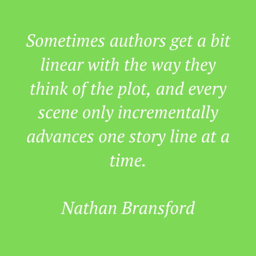 Nathan Bransford's quote