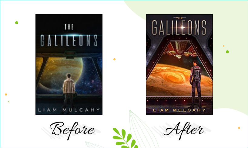 the galileons cover design before after