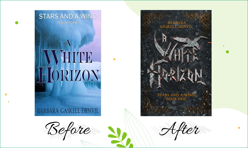 white horizon before after