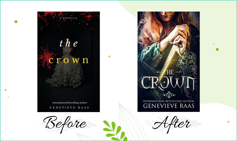the crown book cover before after