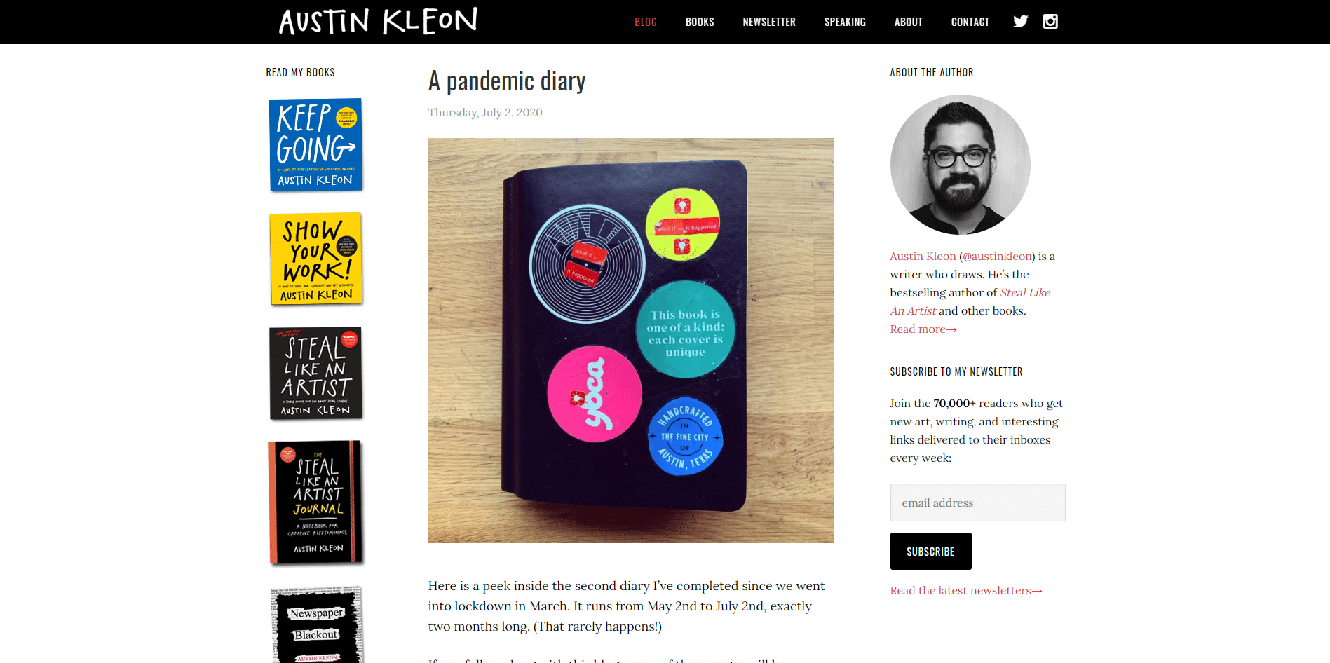 austin kleon website