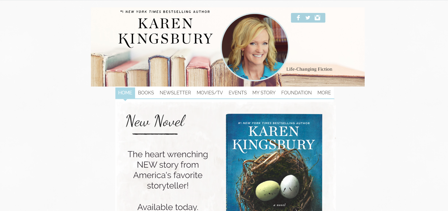 author website homepage