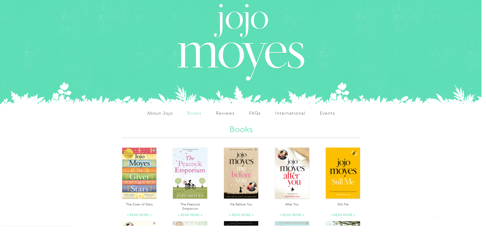 author website books page