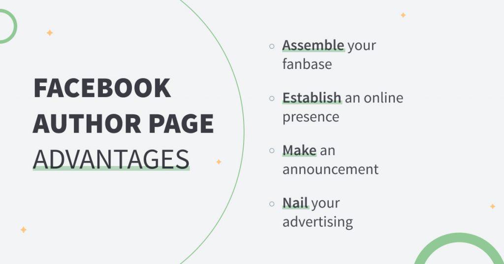 facebook author page advantages