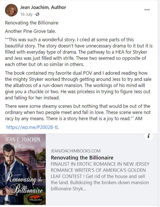 jean joachim facebook author page book marketing
