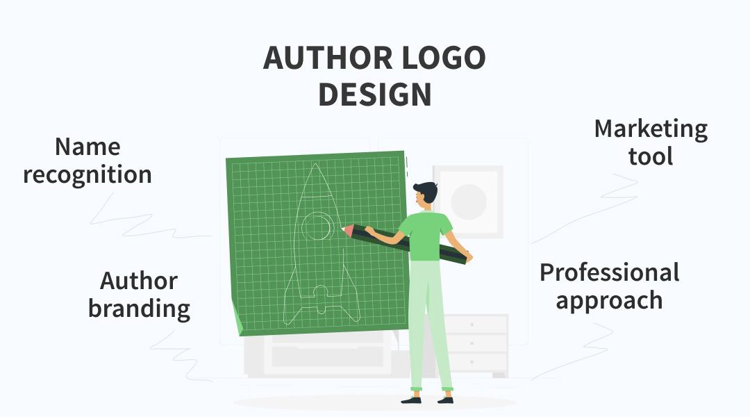 author logo design