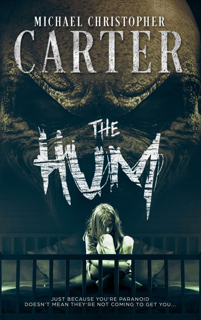 The Hum Horror & Thriller book cover typography