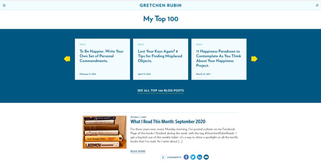 gretchen rubin website example