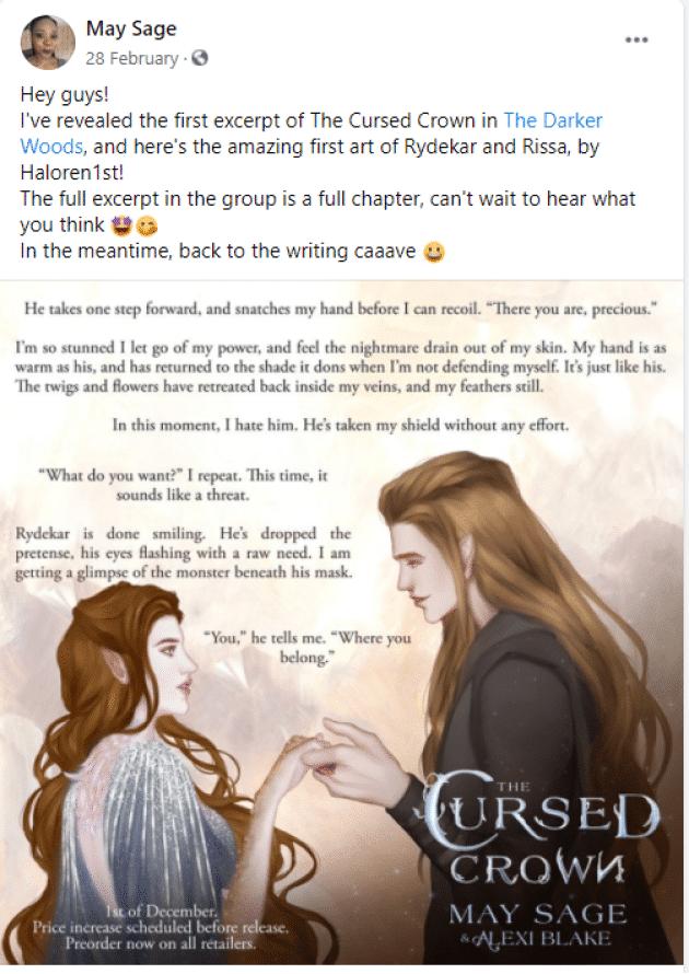 excerpt reveal book marketing