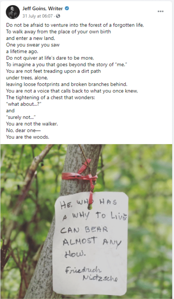author poem facebook