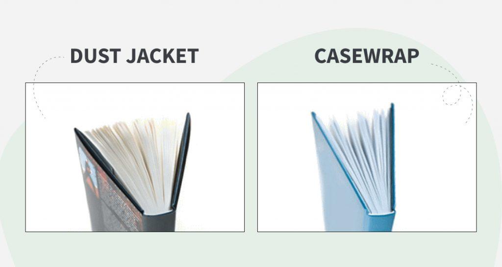 case wrap vs. dust jacket
