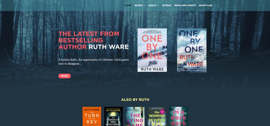 author website header