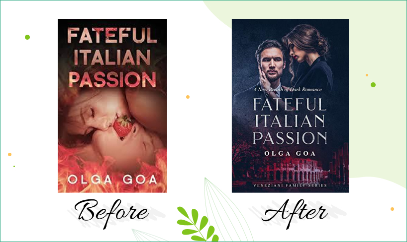 fateful italian passion book cover design before after