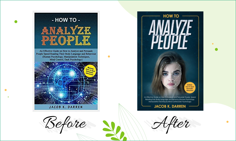 analyze people book cover before after