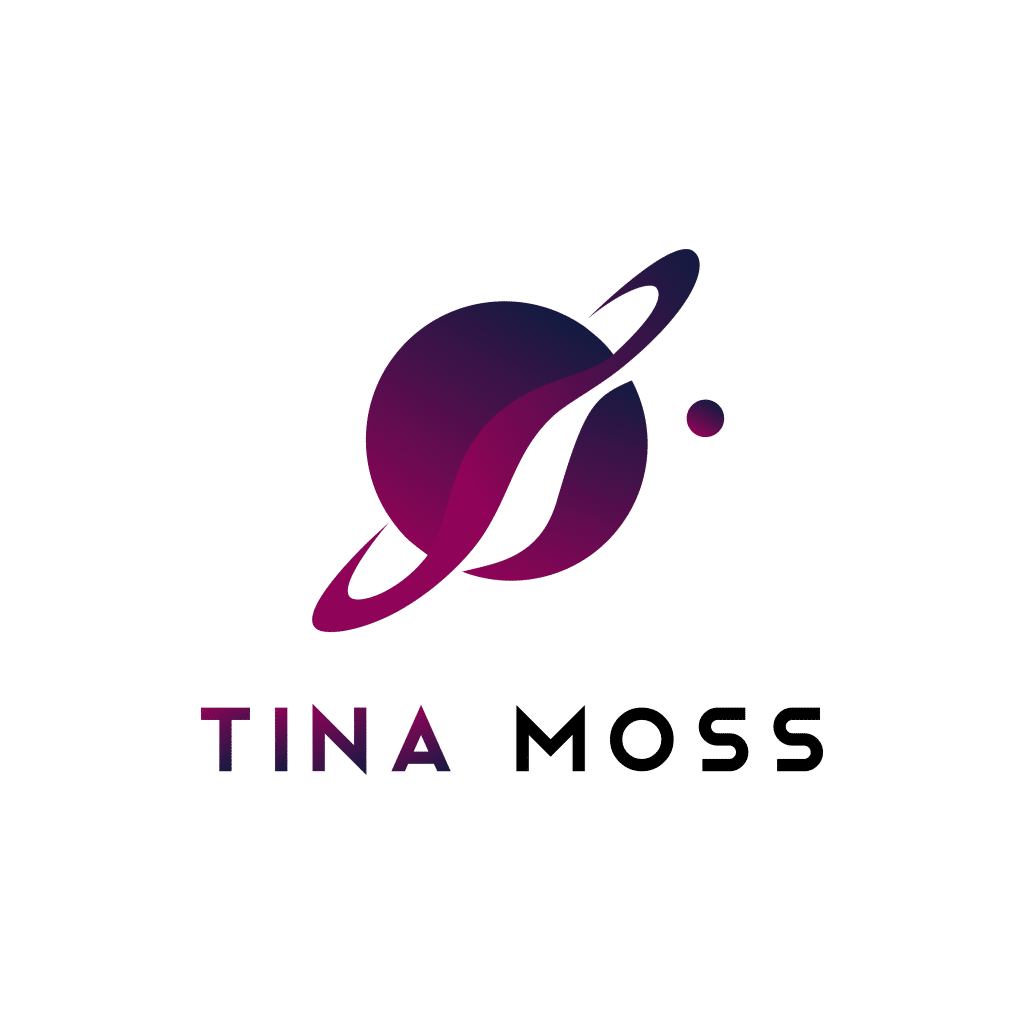 author logo design tina moss