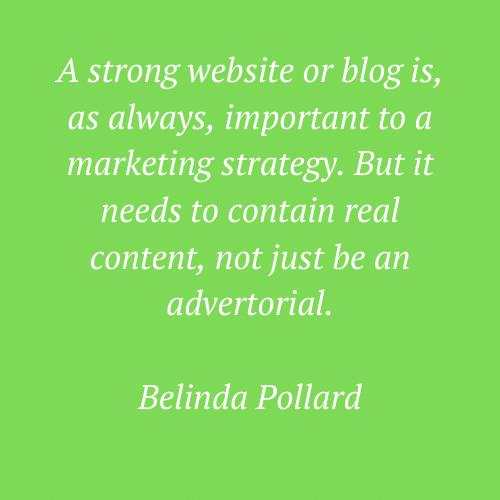Belinda Pollard's words