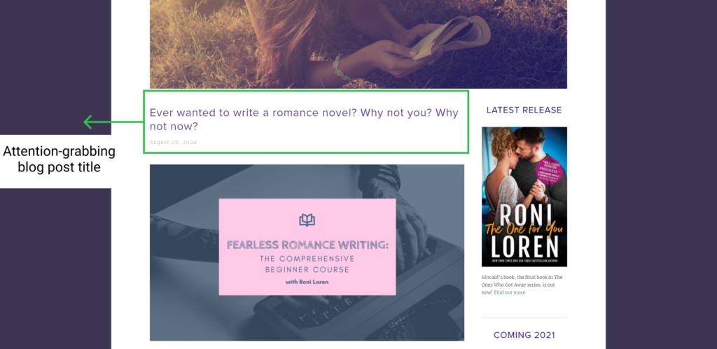 author blog roni loren