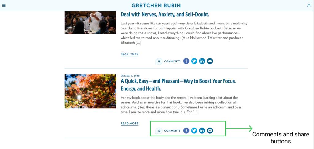 blog example gretchen rubin