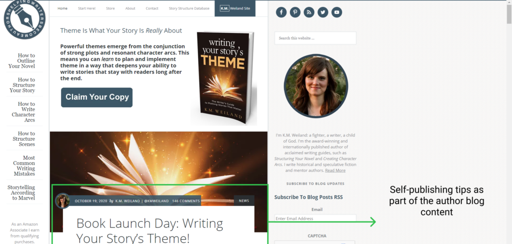 author blog content