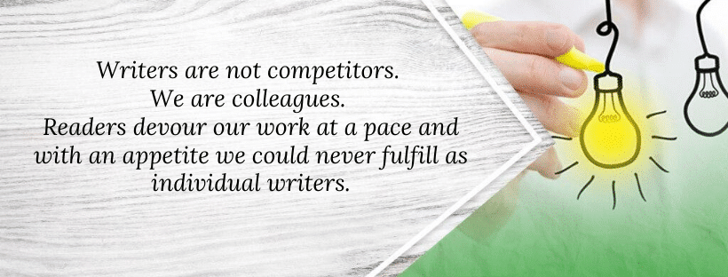 Writers aren't competitors