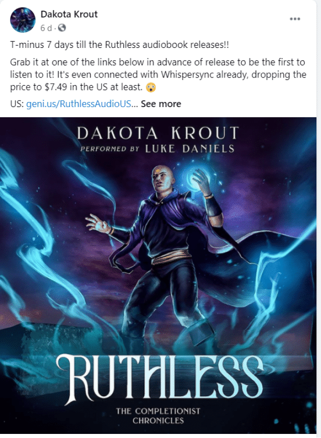 facebook author page dakota krout