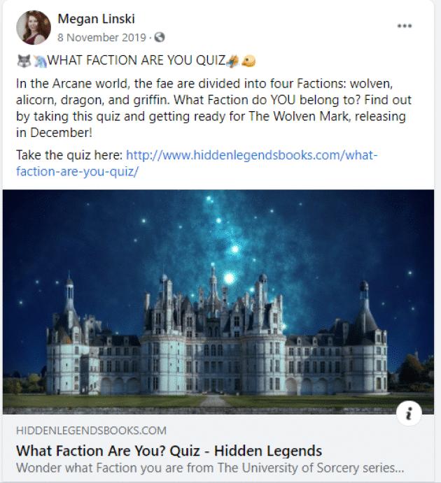 facebook author page megan linski