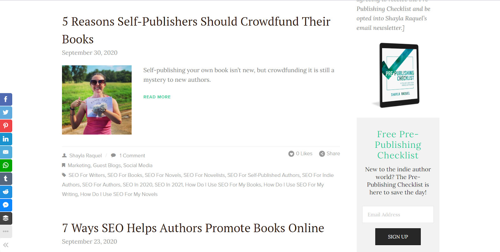 shayla raquel self-publishing