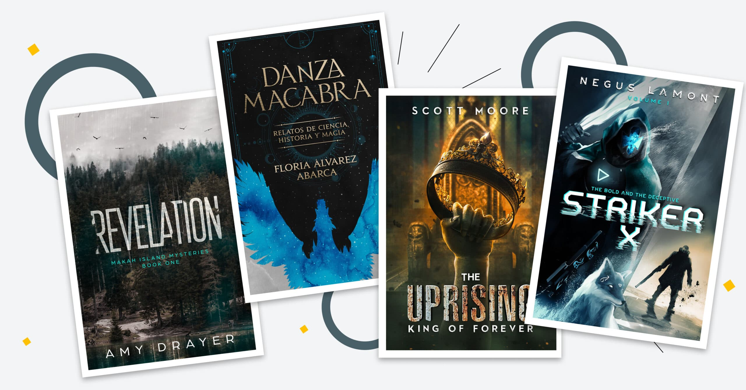 48 Inspiring Book Cover Design Ideas for Indie Authors