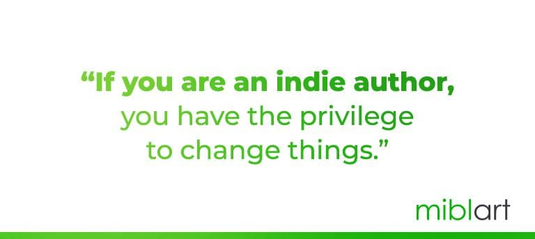 Quote by J.F.Penn about indie author's privilege