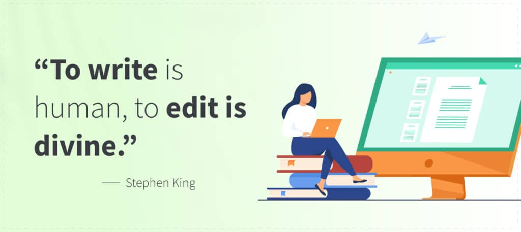 Quote on Importance of Editing as Applied to Self-publishing