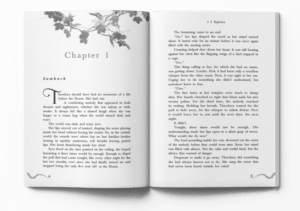 Example of fiction book formatting done by Miblart