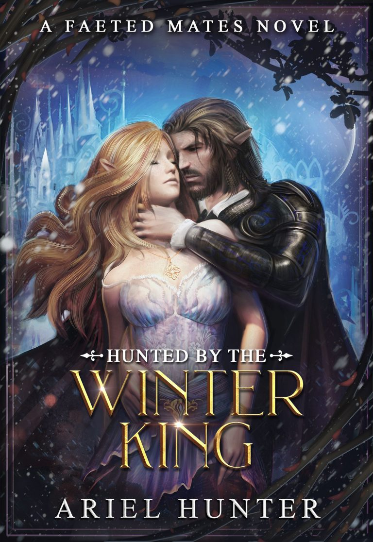 Ariel Hunter's Hunted By the Winter King as an example of romance book cover