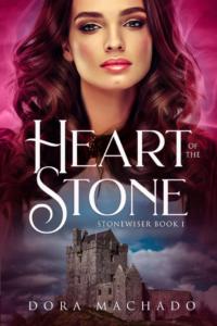 Dora Machado's Heart of Stone as an example of fantasy romance book cover