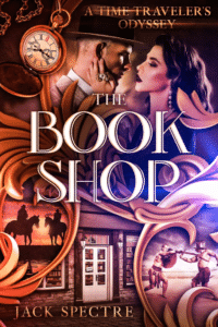 Jack Spectre Bookshop as an example of fantasy romance book cover