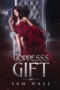 Sam Halls' Goddess's Gift as an example of romance book cover