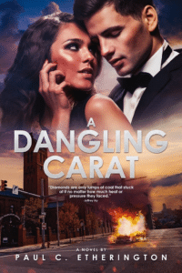 Paul Etherington's A Dangling Carat as an example of romance book cover