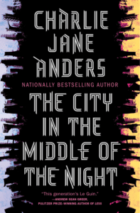 The Cover of the City in the Middle of the Night as an example of the unconventional sci-fi book cover design