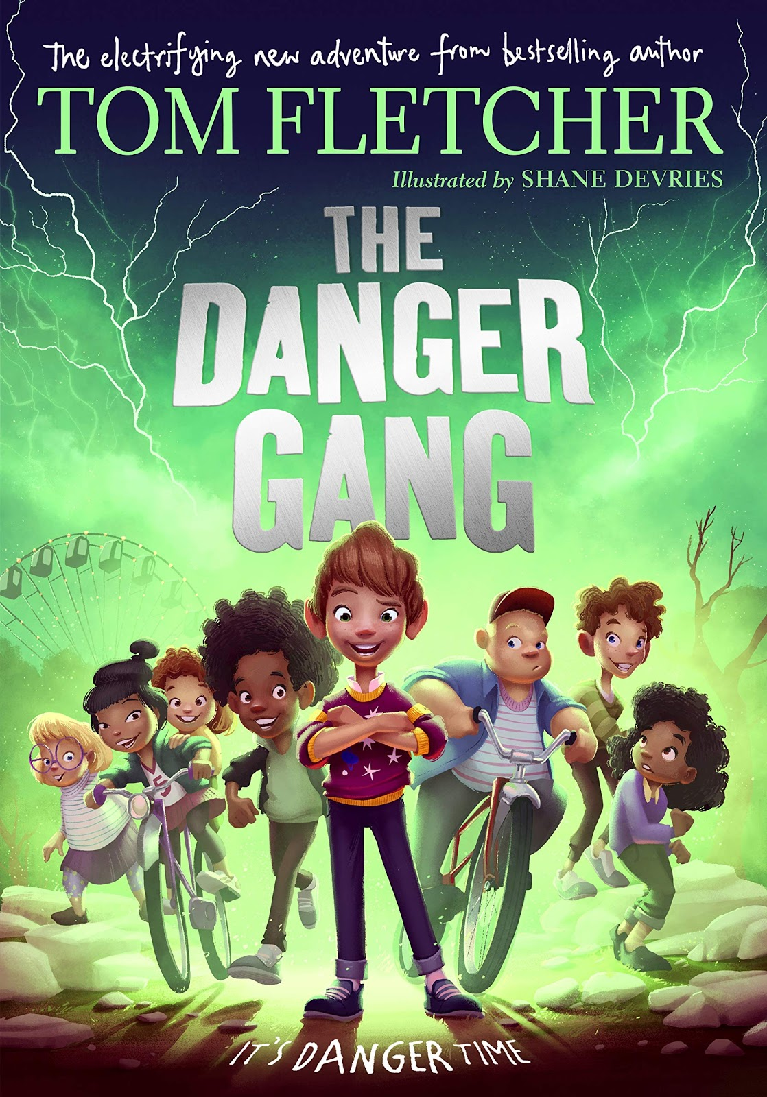 The Danger Gang by Tom Fletcher an example of children's book cover design fro kids over 6