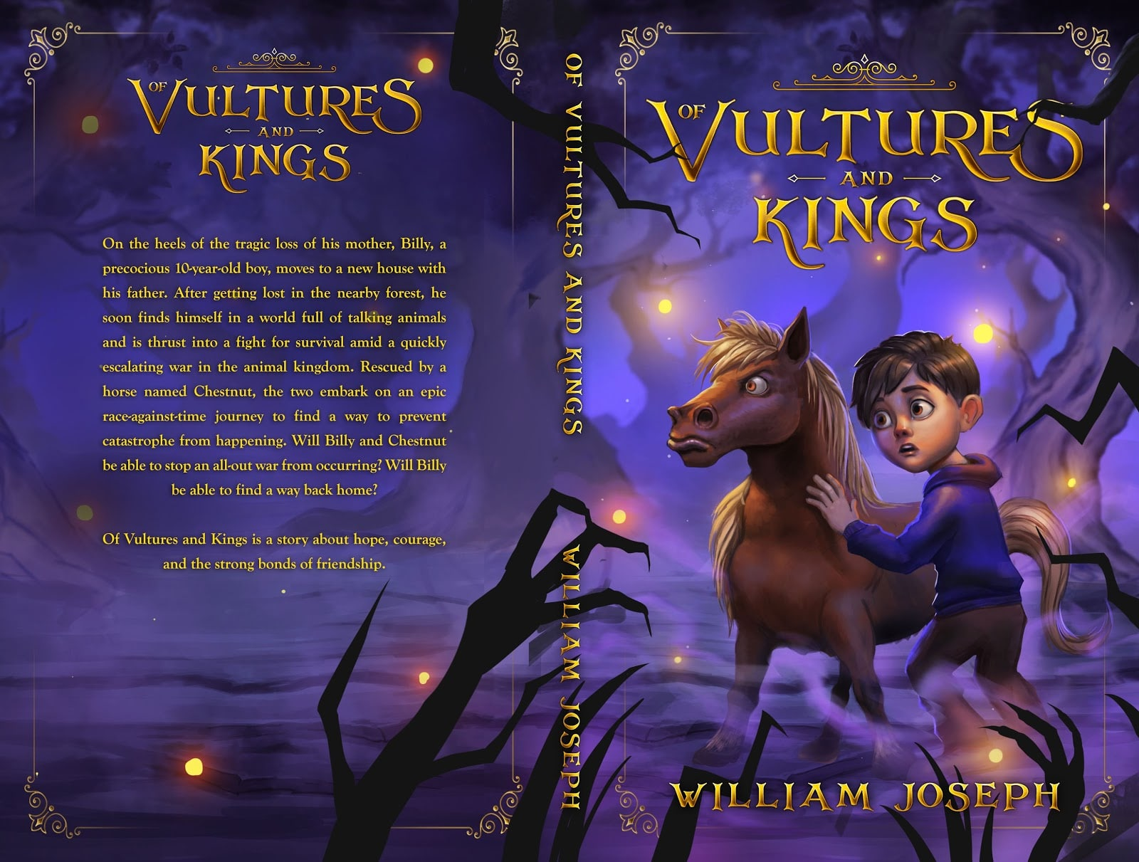 of Vultures and Kings by William Joseph an example of children's book cover design fro kids over 9