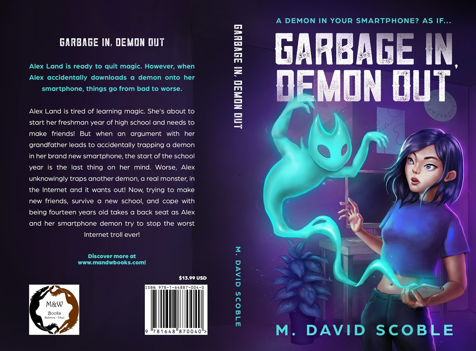 Garbage in Demon out by M. David Scobleas an example of children's book cover design fro kids over 12