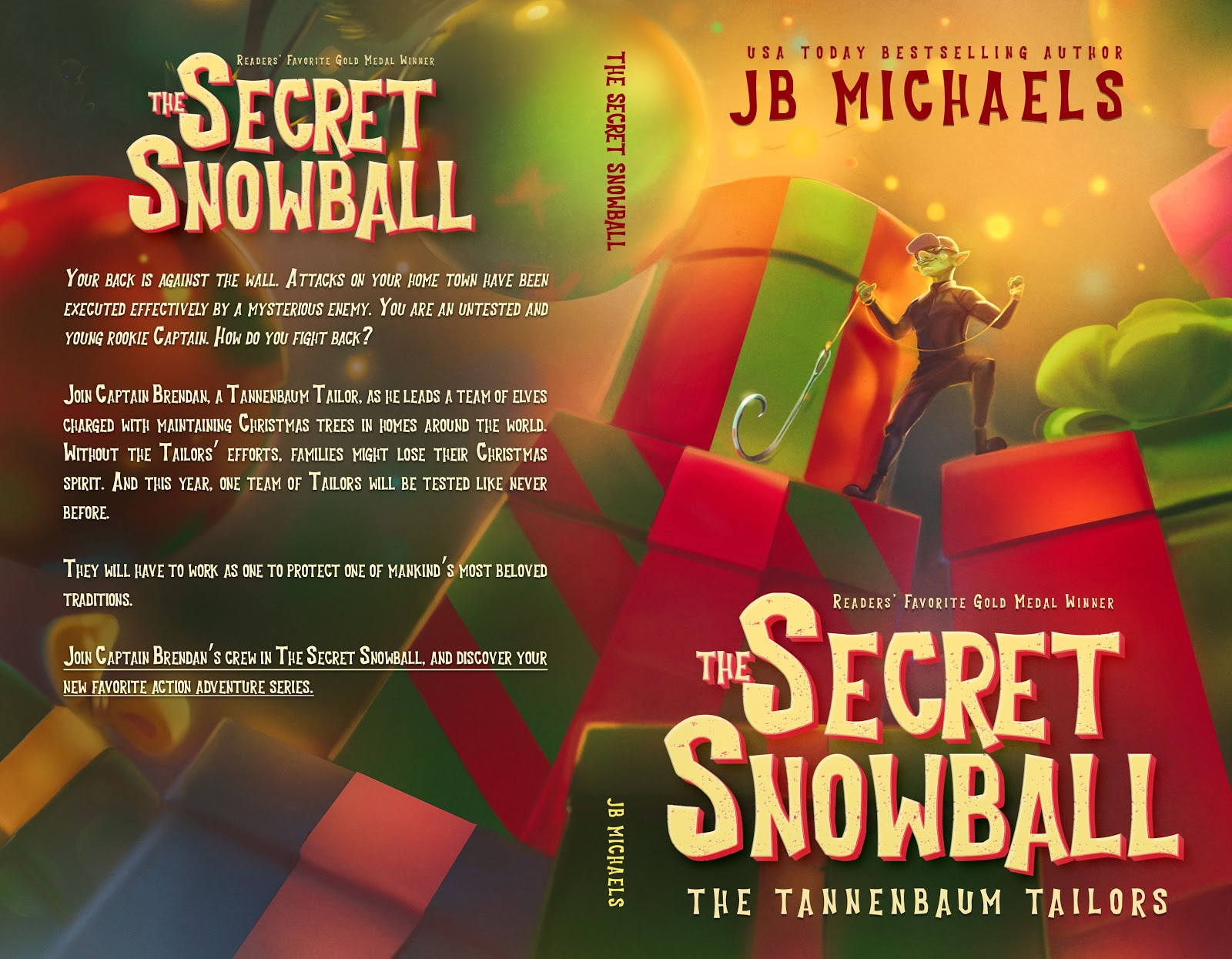 The Secret Snowball as an example of children's book cover design  with great color use