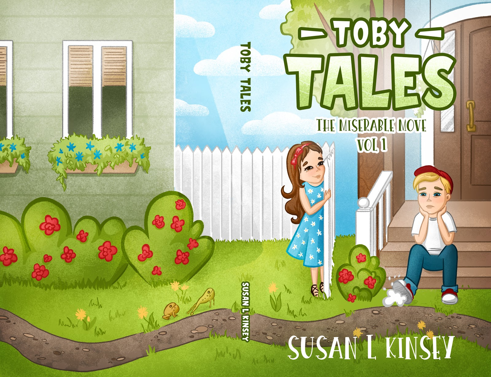 Toby Tales by Susan Kinsey as an example of children's book cover design with meaningful message