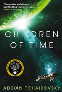 Children of Time book cover as an example of recognizeable sci-fi design
