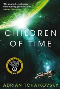 Children of Time book cover with original green color