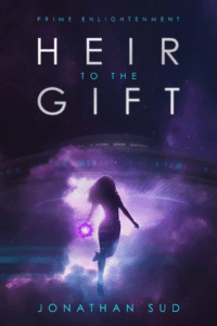Color use in sci fi book cover design on the eample of Heir to the Gift by Jonathan Sud