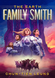 Illustrated sci fi book cover example Family Smith by Chun-Tien Leung