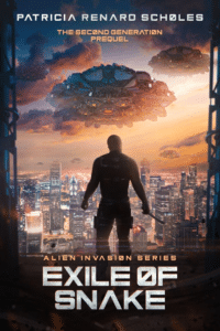 Exile of Snake as an example of story-driven sci fi book cover art